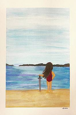 Beach Landscape Mixed Media - Beach Sword by Barbara Bellissimo