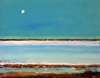Moon Painting - Beach Textures by Toni Grote