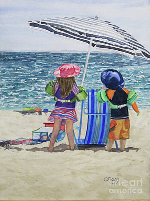 Painting - Beach Time by Carol Flagg
