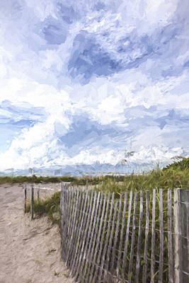 Beach Fence Digital Art - Beach Time IIi by Jon Glaser