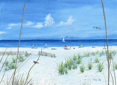 Beach Time Art Print by Mike Ivey