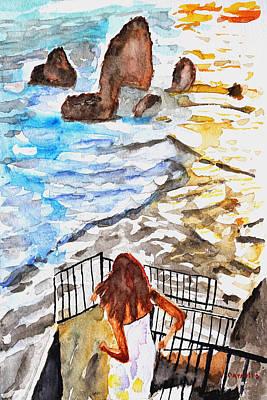 Ruben Carrillo Wall Art - Painting - Beach Time by Ruben Carrillo