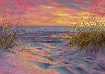 Beach Time Serenade Art Print by Lucie Bilodeau