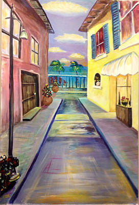 Painting - Beach Town. by Patricia Lazaro