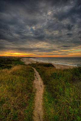 Beach Trail Art Print by Mike Horvath