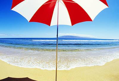 Photograph - Beach Umbrella by Carl Shaneff - Printscapes