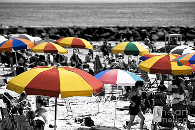 Photograph - Beach Umbrella Fusion by John Rizzuto