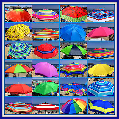 Photograph - Beach Umbrella Medley by Mitchell R Grosky