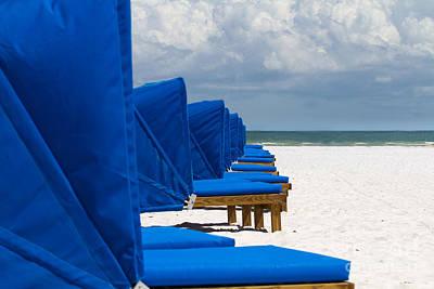 Designer Photograph - Beach Umbrellas 3 By Darrell Hutto by J Darrell Hutto