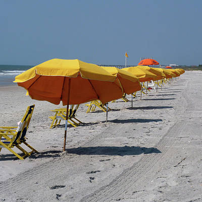 Photograph - Beach Umbrellas by Amy Jo Garner