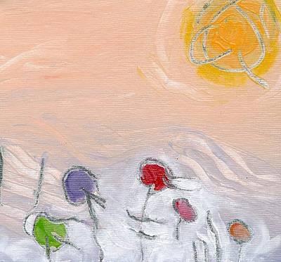 Painting - Beach Umbrellas by Christine Alfery
