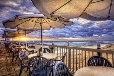 Photograph - Beach Umbrellas by Debra and Dave Vanderlaan