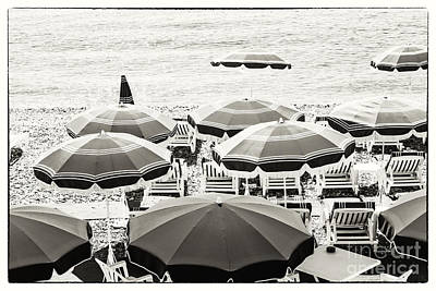 Beach Umbrellas In Nice Art Print by Elena Elisseeva