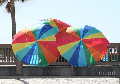 Photograph - Beach Umbrellas by Lynn Jackson