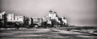 Photograph - Beach Vacancy In Ocean City In Black And White by Bill Swartwout