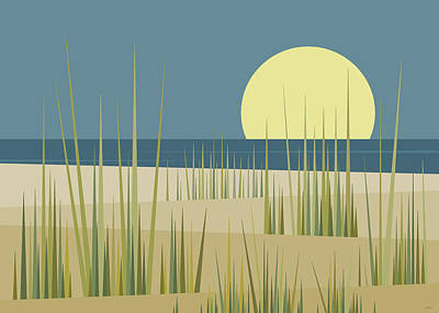 Digital Art - Beach  by Val Arie