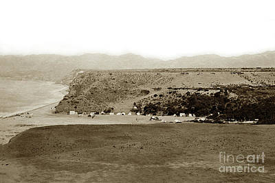 Photograph - Beach View At Santa Monica Circa 1880 by California Views Mr Pat Hathaway Archives