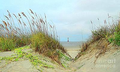 Beach View Art Print by Kathleen Struckle