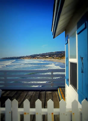 San Diego - Beach View From Crystal Pier Art Print
