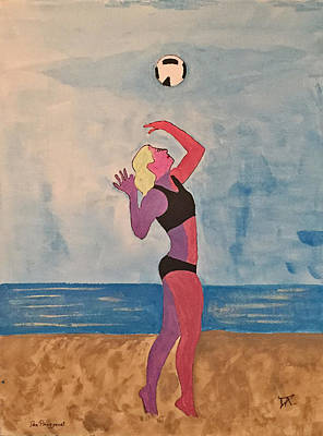 Painting - Beach Volleyball by Donald Paczynski