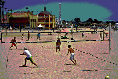 Photograph - Beach Volleyball by Tom Kelly