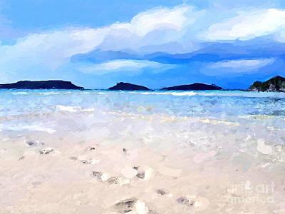 Digital Art - Beach Walk by Anthony Fishburne