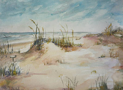 Painting - Beach Walk by Dorothy Herron