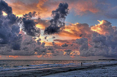 Photograph - Beach Walk - Florida Seascape by HH Photography of Florida