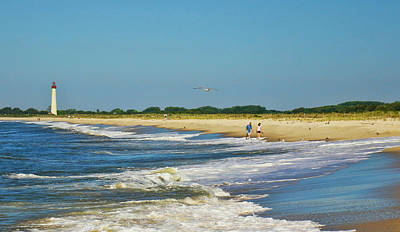 Photograph - Beach Walk From Cape May Lighthouse by Allen Beatty