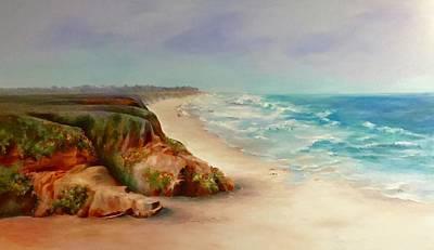 Beach Walk, Half Moon Bay Art Print