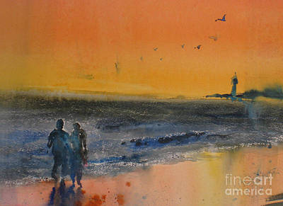 Painting - Beach Walk by John Byram
