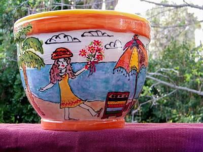 Ceramic Art - Beach Walk by Lisa Dunn