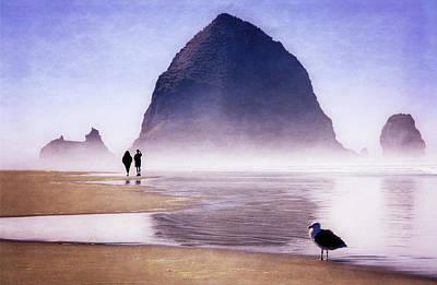 Art Print featuring the photograph Beach Walk by Scott Kemper
