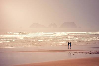 Surf Lifestyle Photograph - Beach Walkers by Debi Bishop