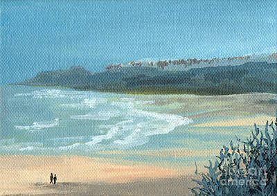 Painting - Beach Walkers by Julia Underwood