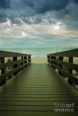 Photograph - Bridge To Beach by Birgit Tyrrell