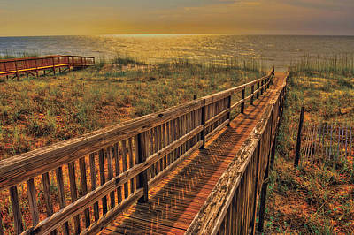 Photograph - Beach Walkway by Don Wolf