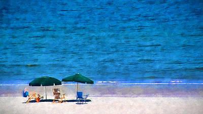 Beach Watercolor Art Print