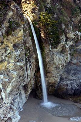 Photograph - Beach Waterfall by Michael Courtney