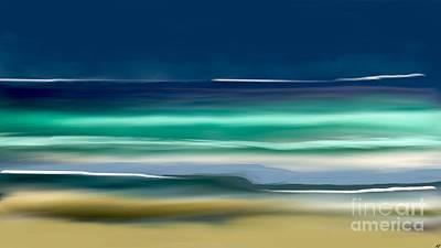 Beach Wave Art Print by Anthony Fishburne