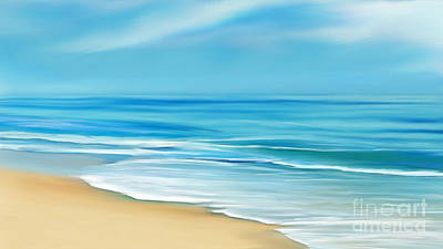 Mixed Media - Beach Waves by Anthony Fishburne