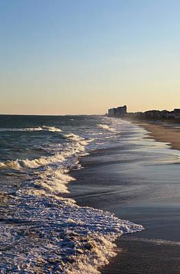 Photograph - Beach Waves At Sunset by Jill Lang
