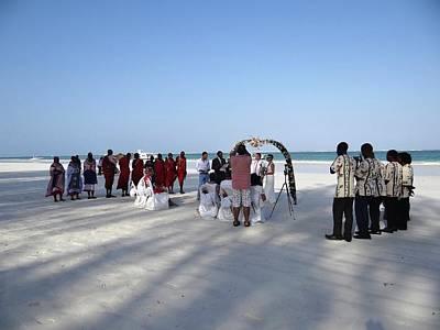Beach Wedding In Kenya Art Print
