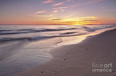 Calm Photograph - Beach Welcoming Twilight by Angelo DeVal
