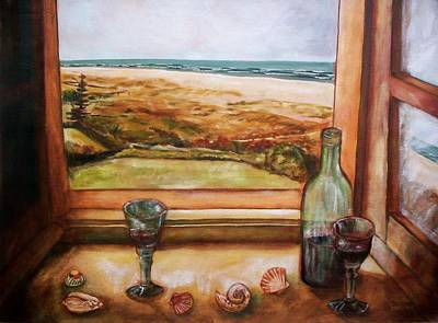 Beach Window Art Print
