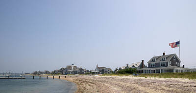 Nantucket Photograph - Beach With Buildings In The Background by Panoramic Images
