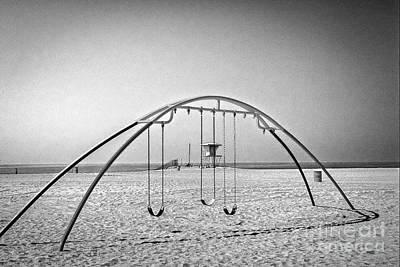 Photograph - Beach Workout Bars by David Zanzinger