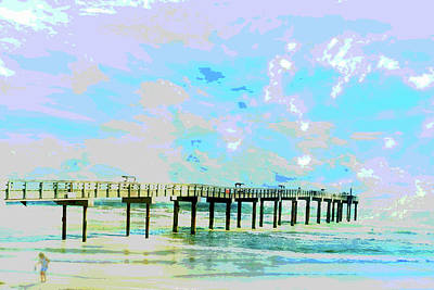 Digital Art - Beachcomber's Ocean Landscape by Mary Clanahan