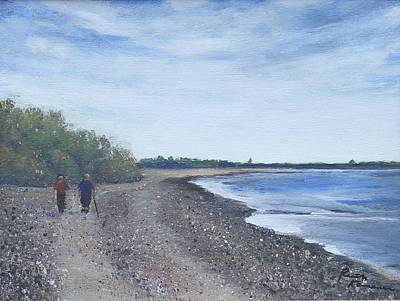 Painting - Beachcombers by Ruth Kamenev