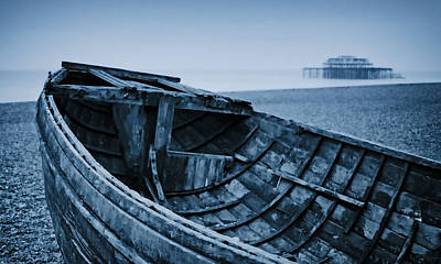 Photograph - Beached At Brighton by Tony Grider